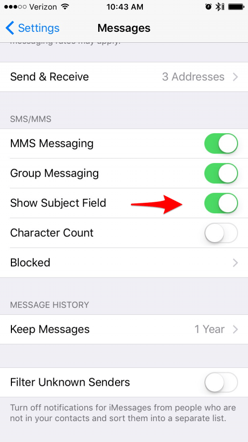 unknown message not found iphone show subject field on iphone how to add or remove a 18125