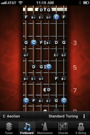Guitar 12 string guitar chords : GuitarToolkit Review | iPhoneLife.com